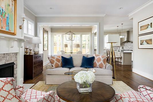 interior design living room in mt laurel
