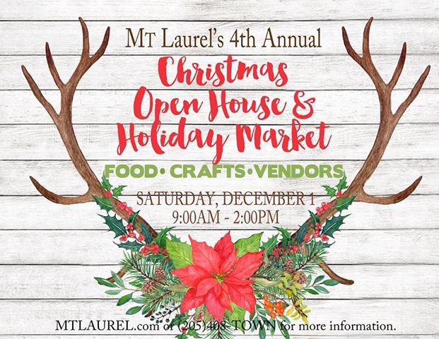 Christmas Open House.Christmas Open House Holiday Market The Town Of Mt Laurel