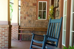 Our front porches promote neighborly interaction and long hours of relaxation.