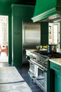 Beautiful custom cabinetry, evergreen shiplap walls, and luxurious Thermador® appliances highlight Bill Ingram's kitchen design.