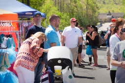 Residents gather to shop during Mt Laurel's annual Spring Festival.