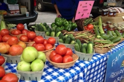 Fresh produce and locally made salsa entice visitors to the Mt Laurel Fall Festival.