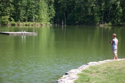 Spoonwood Mountain Lake is a 11-acre private lake for fishing and swimming.